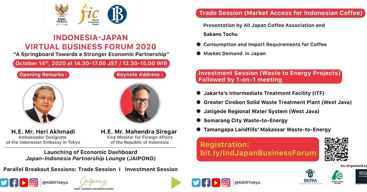 Indonesia-Japan Virtual Business Forum 2020